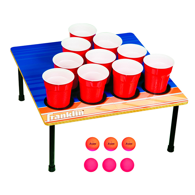 Cup Pong Game - Fold-N-Go - 6 Balls - 10 cups