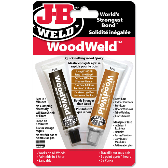 ''WoodWeld'' Epoxy Adhesive - 1oz - Light Tan