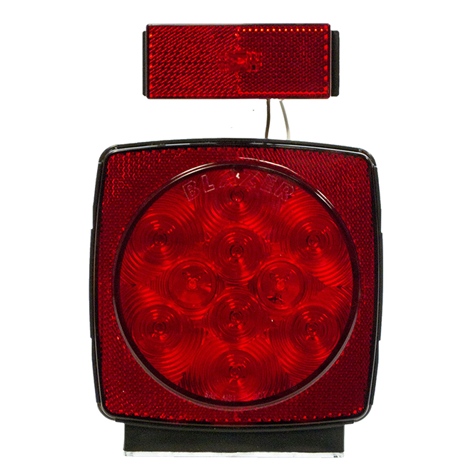 LED Stop/Turn/Tail Light with Flange - Red