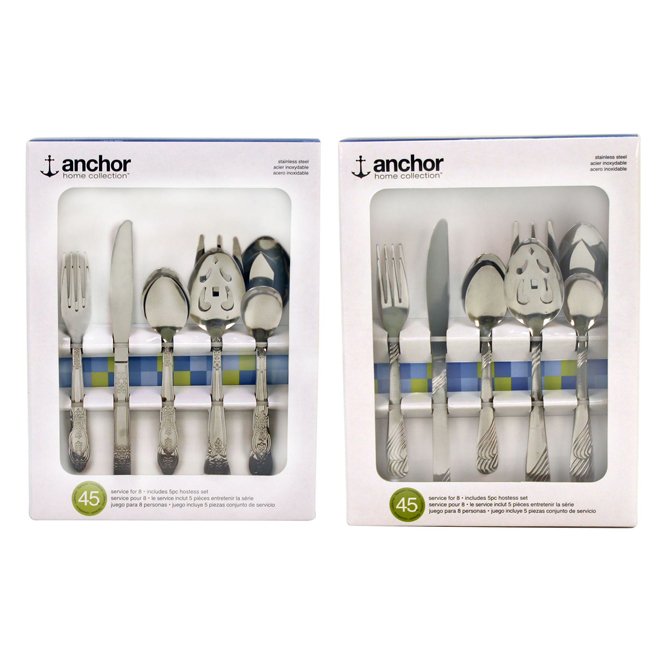 Cutlery Set - 45 Pieces - Stainless Steel