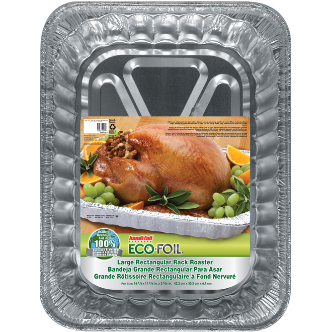 "Large Roast Pan - 16 1/2"" x 12"" x 2 1/2"" - Aluminum"