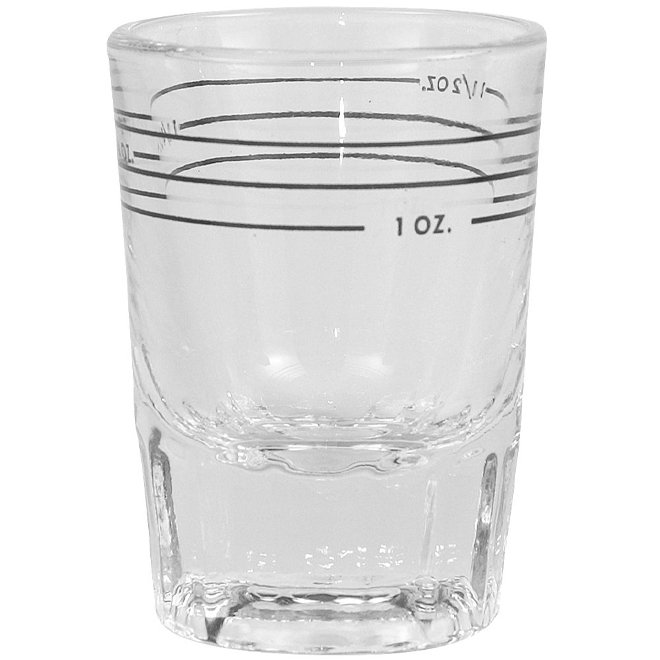 Deluxe Shot Glass with Markings - 2 oz