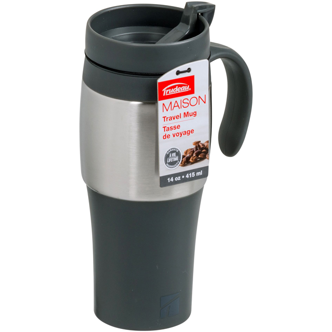 Travel Mug - Black and Silver - Mariner II - 415ml