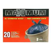 Extra Large Garbage Bags - Pack of 20 - 121 L