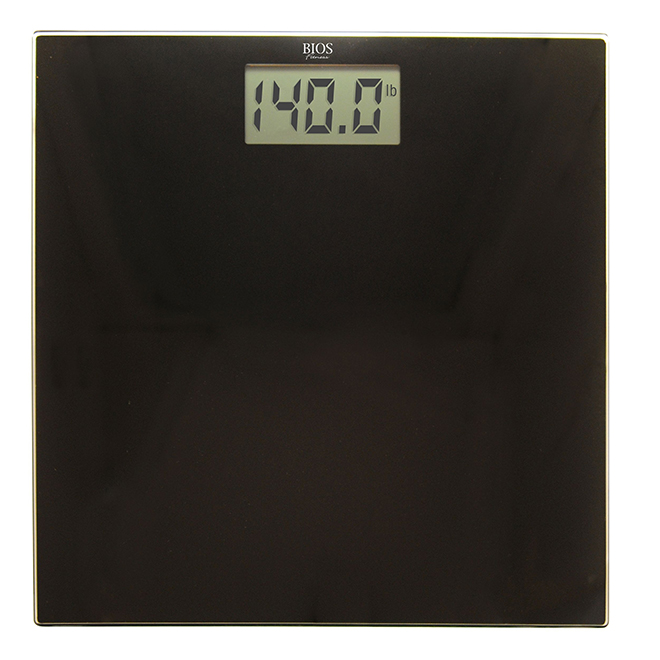 Digital Ultra Slim Bathroom Scale - Black