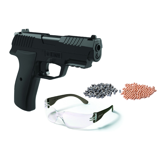 Pistol Air Gun - Iceman - CO2 Semi-Auto - BB/.177 Caliber