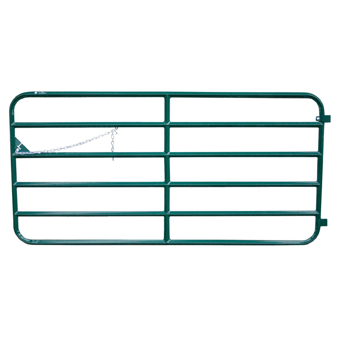 "Fence Gate - Diamond Bar - 6 Bars - 14 GA Steel - 48"" x 20'"