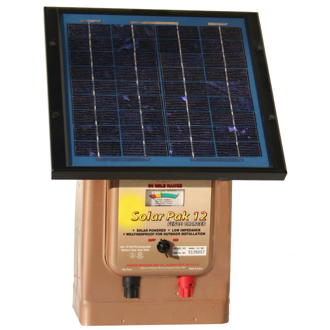 Solar Electric Fence Charger - Pak 12 - 48 km Range - 12 V