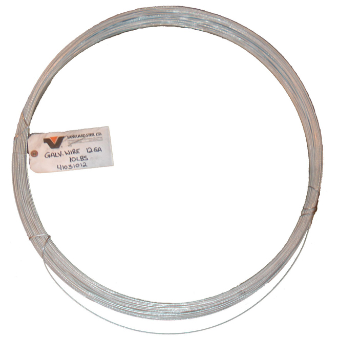 Merchant Wire - 12 GA - Galvanized - 50 lb Coil - 1680'