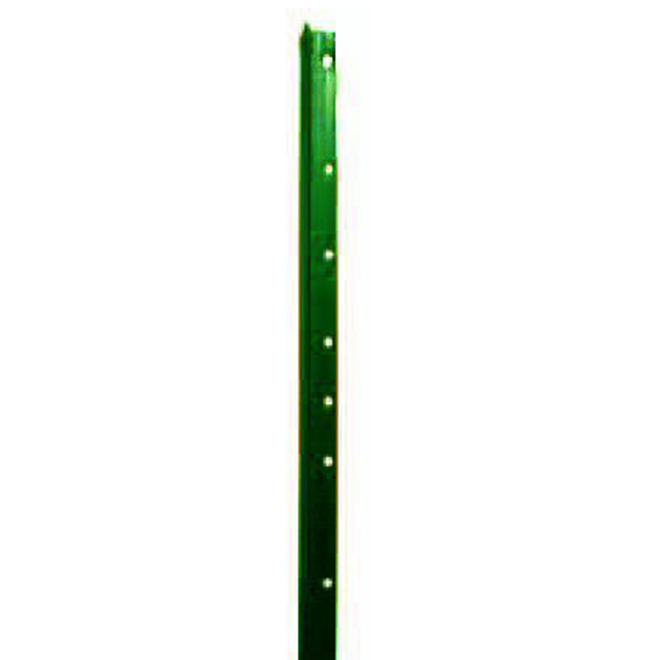 Steel T-Post - Punched - Smooth - Green Enamel - 7'