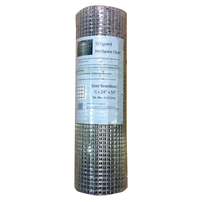 "Hardware Cloth - 19 GA - Galvanized - 1/2"" x 48"" x 50'"