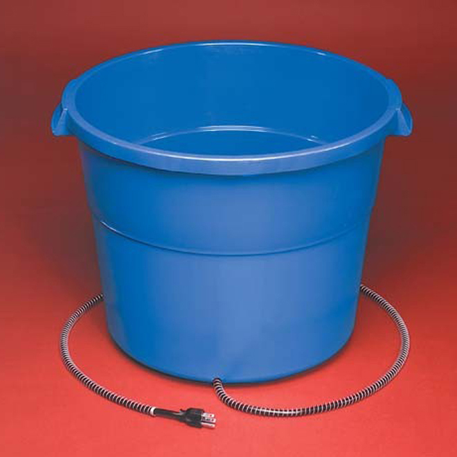 Plastic Heated Bucket - 16 Gallons - 260 W