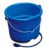 Plastic Heated Bucket - Flat Back - 2.5 Gallons - 70 W