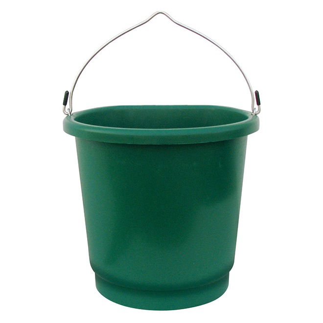 Plastic Heated Bucket - Flat Back - 3 Gallons - 70 W