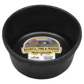 Feeder Pan - Rubber - 1/2 Gallon - Black