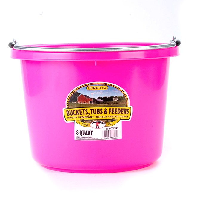 Bucket - Plastic - 2 Gallons - Hot Pink