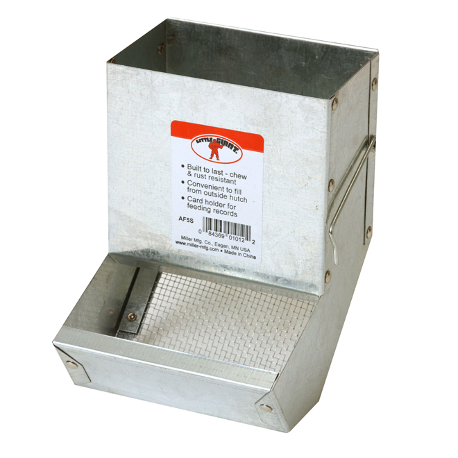 "Rabbit Feeder with Sifter Bottom - 5 1/2"" x 5 1/8"" x 7 1/8"""