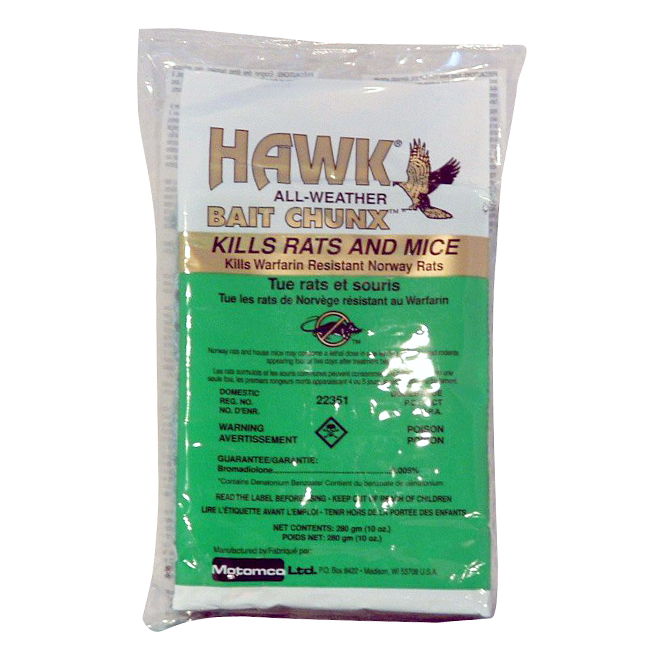 Rodenticide - Hawk Bait Chunx - 10 oz - 10 Pack