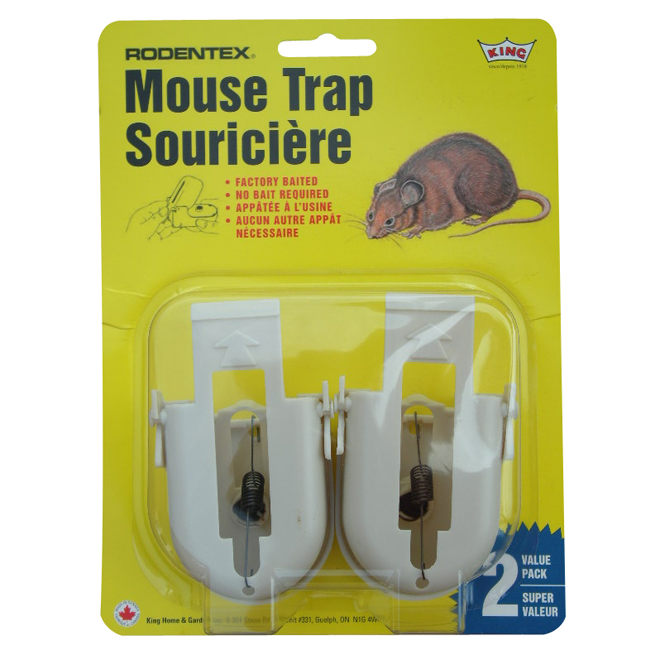 Rodent Trap - Rodentex Pre-Baited Mouse Trap - 2 Pack