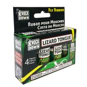 Fly Trap - Knock Down Lizard Tongue Fly Ribbon - 4 Pack