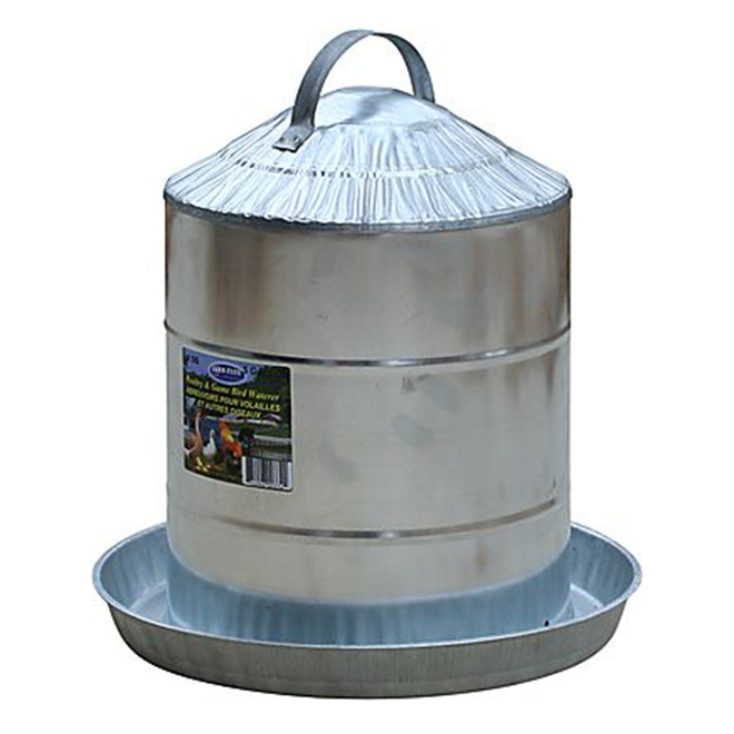 Poultry Fountain - Galvanized Steel - 5 Gallon