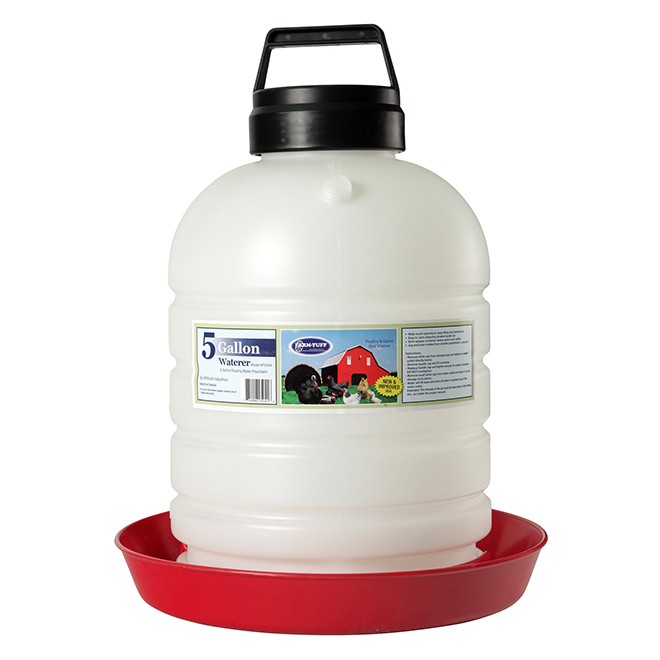 Poultry Fountain with Handle - 5 Gallon