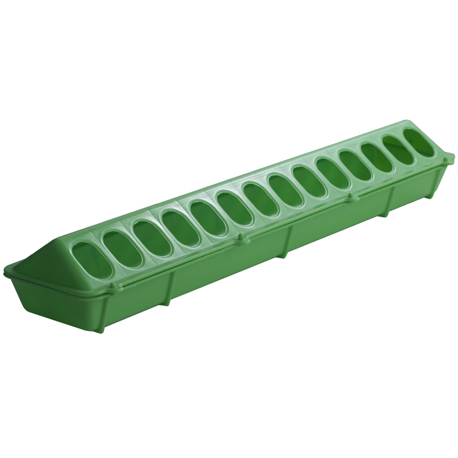 Flip-Top Poultry Feeder - Plastic - Lime Green - 20""