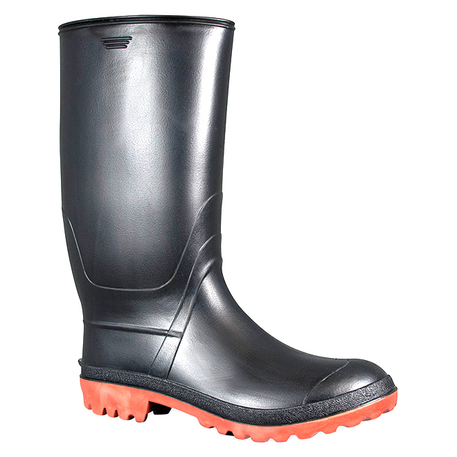 Men's Rubber Rainboots - Black - 9