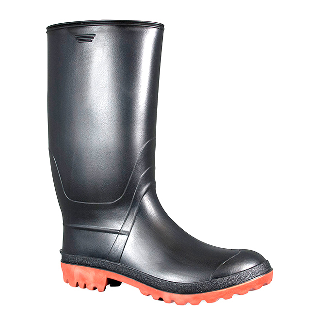 Men's Rubber Rainboots - Black - 10