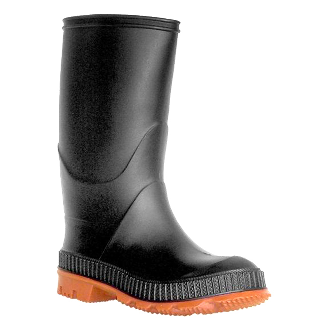 Boys Rubber Rainboots - Black - 4
