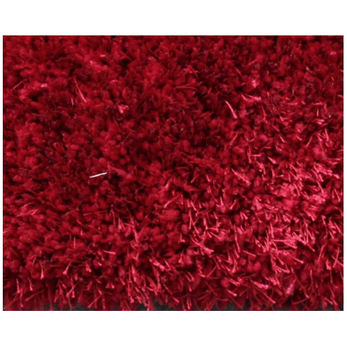 Shag Area Rug - 4' x 6' - Polyester - Red