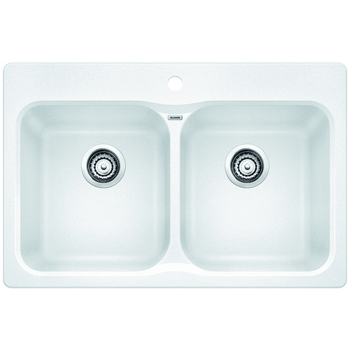 Double Sink Vision - Silgranit® - White - 31.5 x 20.5""