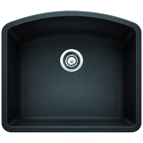 Single Sink Diamond - Silgranit® - Anthracite - 24 x 20.75""