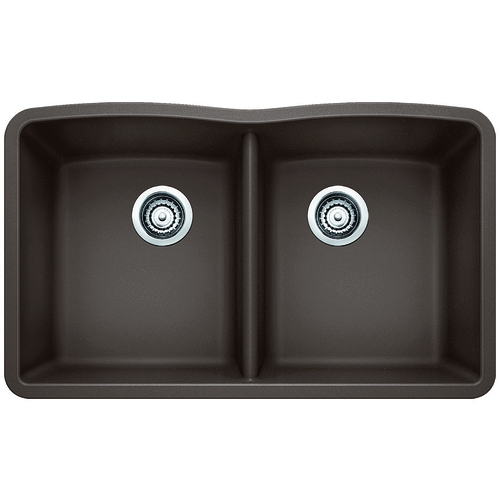 Double Sink Diamond - Silgranit® - Café - 32 x 19.25""
