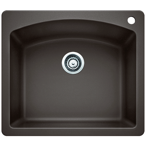 Single Sink Diamond - Silgranit® - Café - 25 x 22""