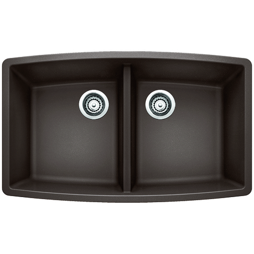 Double Sink Performa - Silgranit® - Café - 33 x 20""