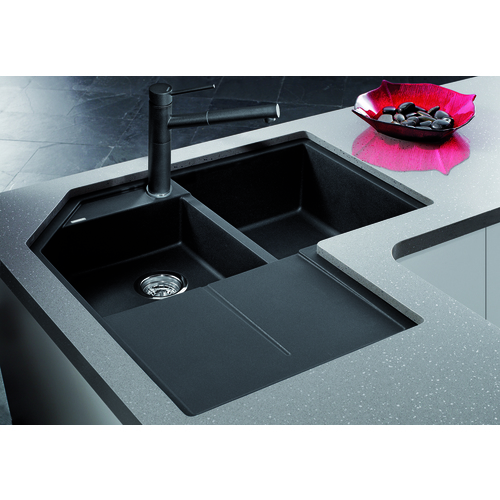 Single Sink Metra - Silgranit® - Anthracite - 32.5 x 32.5""