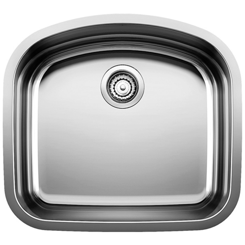 Single Sink Wave - Stainless Steel - 22.5 x 20.5""