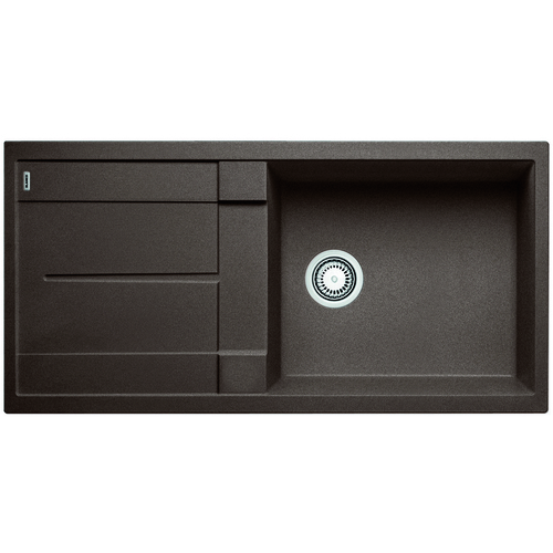 Single Sink Metra - Silgranit® - Café - 39.5 x 19.75""