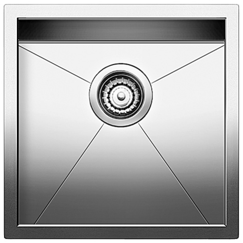 Single Sink Quatrus - Stainless Steel - 17 x 17""