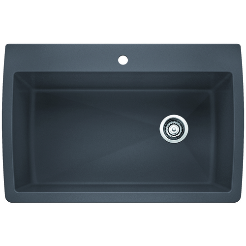 Single Sink Diamond - Silgranit® - Cinder - 33.5 x 22""