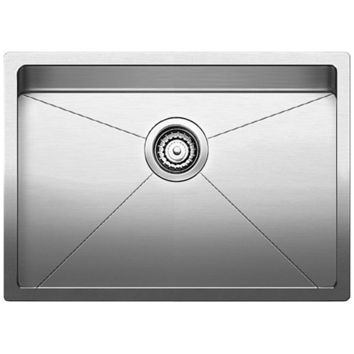 Single Sink Quatrus R15 - Stainless Steel - 25 x 18""