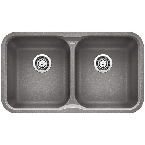 Single Sink Precis - Silgranit® - Grey - 30.7 x 17.5""