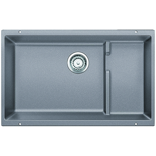 Double Sink Precis - Silgranit® - Grey - 28.75 x 18.13""