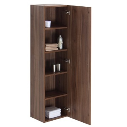 Relax Side Cabinet 1 Door and 4 Shelves - Walnut