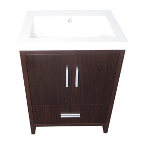 Smally Vanity Set 2 Doors And 1 Drawer - Brown Lacquered