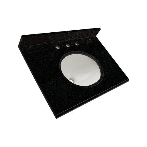 "25"" Vanity - Top China Undermount Sink - Tempest Black"