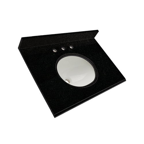"31"" Vanity - Top China Undermount Sink - Tempest Black"