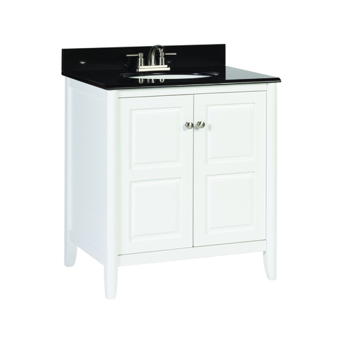 """Pennfield"" Vanity without Top 30"" - 2 Doors - White"