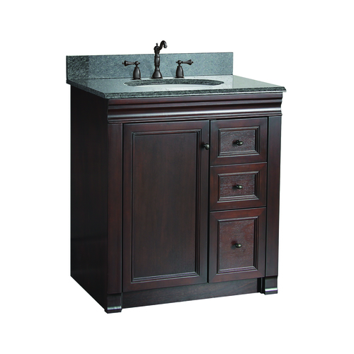 """Shawna"" Vanity without Top 30"" - 1 Door and 3 Drawers  - Tobacco"